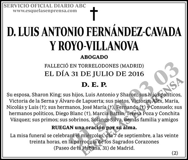 Luis Antonio Fernández-Cavada y Royo-Villanova